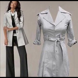 CAbi Gray Cloud Lightweight Spring Trench Coat